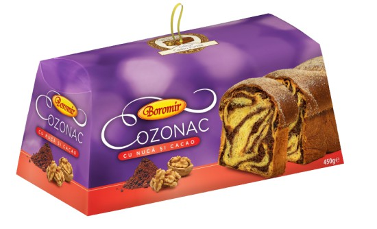 Cozonac with Walnuts and Cocoa Filling