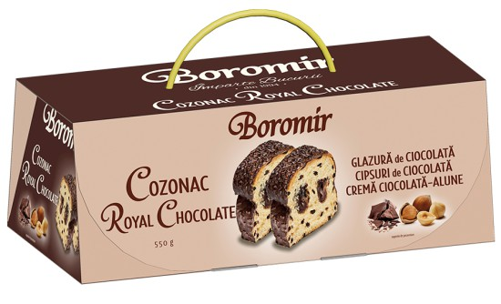 Cozonac with Chocolate Cream and Chocolate Chips