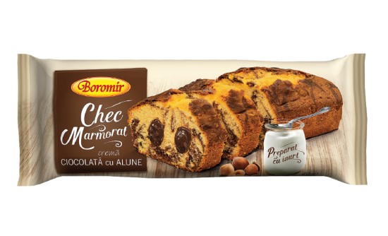 Marble pound cake with chocolate