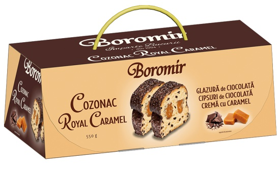Cozonac with Caramel Cream and Chocolate Chips